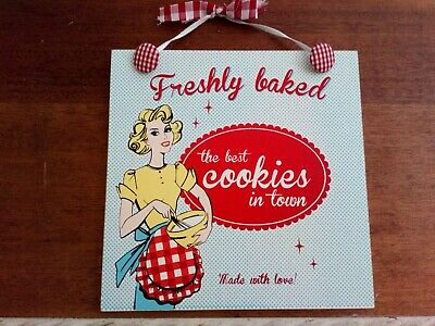 Cake Bakers Fun Wooden Plaque  7.5 inches square.