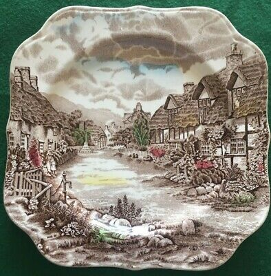 JOHNSON BROTHERS CHINA OLDE ENGLISH COUNTRYSIDE - Multicolour Square Salad Plate