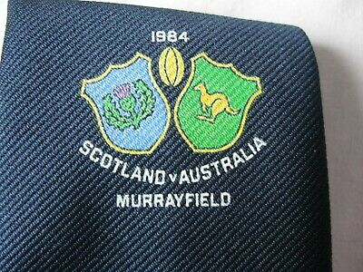 Scottish Rugby 1984 Australia Match Tie Unused Mint  Condition