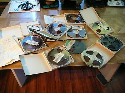 "Lot of 10 vintage Reel to Reel Tapes 1/4"". See listing for details. Jerry Lee?"