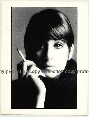 Portrait Of Shorthaired Beauty Smoking A Cigarette / Bob - Eyes (Vintage Photo 1