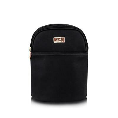 Isoki Bottle/Snack Bag, Black + Rose Gold