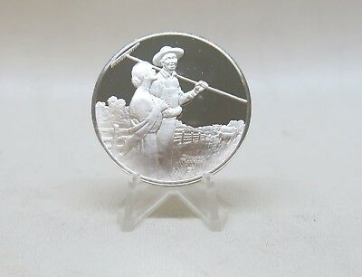 The Pasture Norman Rockwell 1 oz Sterling Silver Coin Round Robert Frost Medal