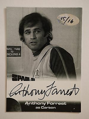 SPACE 1999 BLACK & WHITE PROOF AUTOGRAPH CARD Af1 Anthony Forrest 15/16