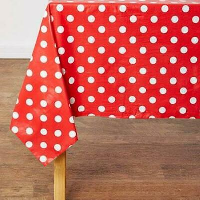 LARGE POLKA DOT SPOT PVC OILCLOTH VINYL FABRIC TABLECLOTH - Sold by the Metre