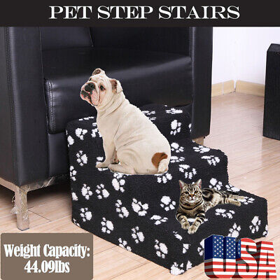 Pet Gear Easy Step 3 Steps Dog Cat Stairs Small Climb Ladder for Couch or Bed