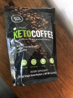 It Works Keto Coffee Weight Management Single Serve Sachets NEW COFFEE