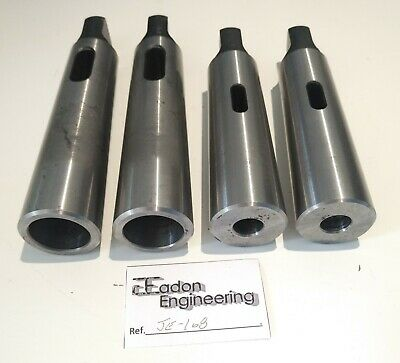 MT4 to MT1 Drill Sleeve x2 and MT4 to MT3 Drill Sleeves x2.