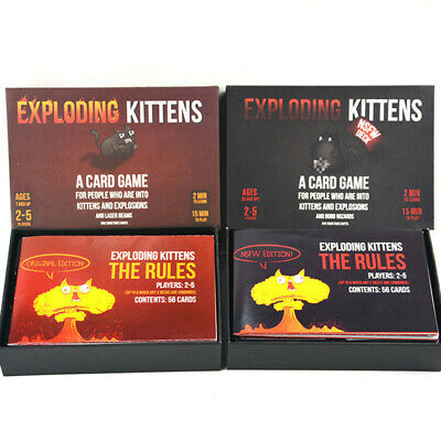 Exploding Kittens Original & NSFW Edition (Explicit Content) Party Card Game Toy