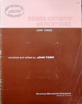 YOUNG ARTISTS' REPERTOIRE - Low Voice - John Toms