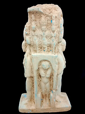 Rare large Ancient Egyptian Striding Ptolemaic Isis Statue Goddess Hathor antiqu