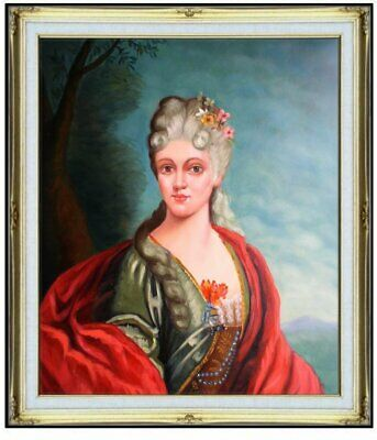Framed, Quality Hand Painted Oil Painting Portrait of a Countess, 20x24in