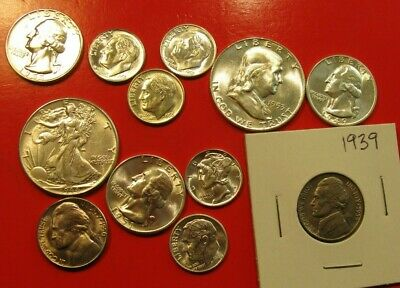 Not Junk Drawer Lot Of Bu  Silver Coins & Others 1939-1955