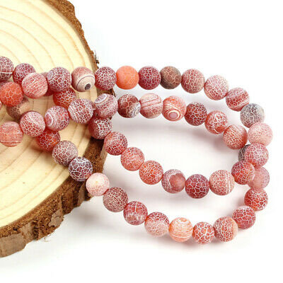 Wholesale Natural Agate Gemstone Round Spacer Loose Beads 6MM 8MM 10MM DIY