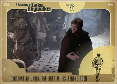 Topps Star Wars Card Trader Journey Luke Skywalker GOLD Confronting Jabba Hutt