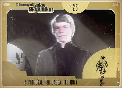 Topps Star Wars Card Trader Journey Luke Skywalker GOLD Proposal for Jabba Hutt