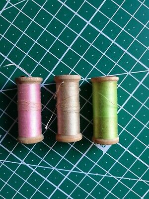 Vintage Timber Cotton Reels X 3