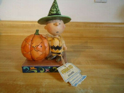 "Enesco Jim Shore Peanuts Collection ""It's Halloween Charlie Brown"" #4045889"