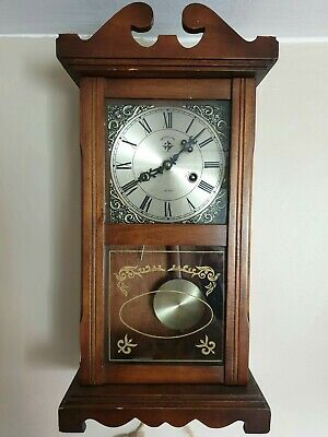 Pendulum 15 days cwood & sons vintage wooden wall clock