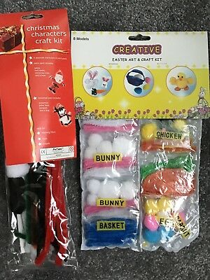Creative Craft Kit, 11 Models Bunny, Basket, Carrot, Egg, Chicken, Snowmen