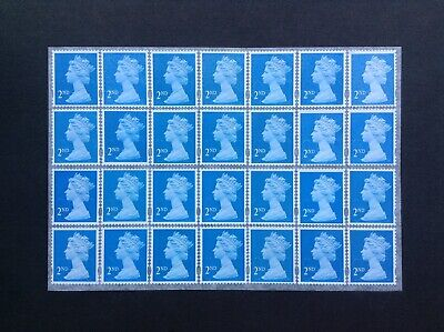 28 2nd Class Unfranked Security Stamps Self Adhesive Easy Peel
