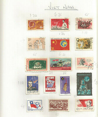 VIET NAM STAMP COLLECTION ON PAGES (7 scans)