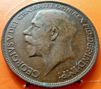Dated 1926 One Penny 1d Coin King George V Great Britain in high grade (150)