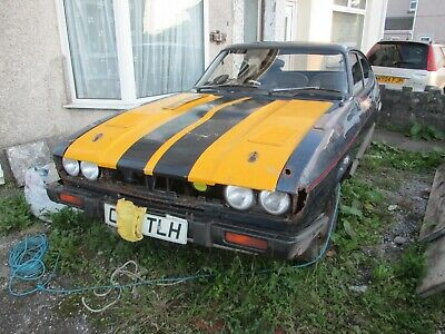 ford capri 2.8 shell with log book,C reg,bonnet boot doors,glass and loom inc