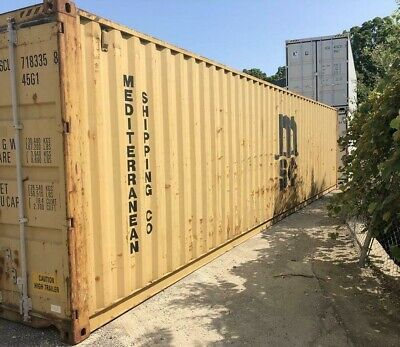 Used 40' Dry Van Steel Storage Container Shipping Cargo Conex Seabox Charleston