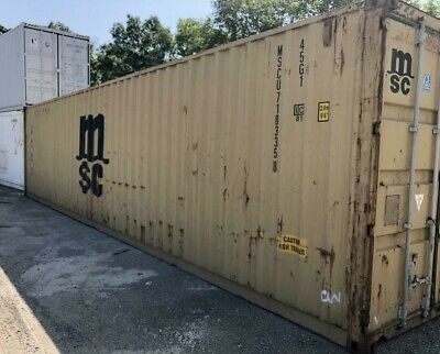 Used 20' Dry Van Steel Storage Container Shipping Cargo Conex Seabox Chicago