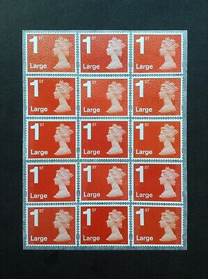 15 1st Class Large Unfranked Security Stamps Self Adhesive Easy Peel