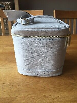 ESPA Leather Travel Bag With Selection Of Travel Sized Products BN
