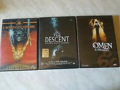 3 Dvd Horror - The Descent - Omen il presagio - L'armata delle tenebre