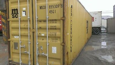 Used 40' High Cube Steel Storage Container Shipping Cargo Conex Seabox Cincinnat