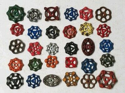 30 #A Vintage Water Faucet Knob Valves Handle Steampunk Industrial Arts & Crafts