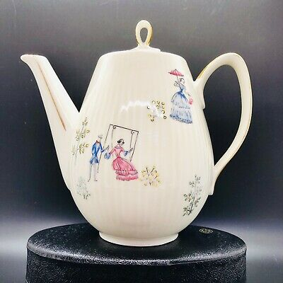 Oscar Schaller - Hand Painted Bavaria Germany Teapot Coffee Pot