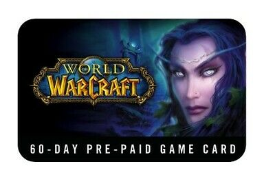 World of Warcraft 60-Day Pre-paid GameTime Timecard US (READ DESCRIPTION)