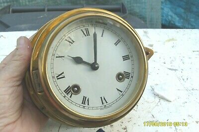 Ships Wall Clock Balance Movement 8 Bells  Striking  Single  Bell See Video