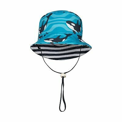 Striped Orca Reversible Bucket Hat