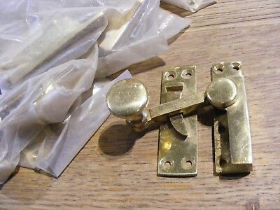 12 x SOLID BRASS ARM TYPE WINDOW SASH FASTENER LOCK