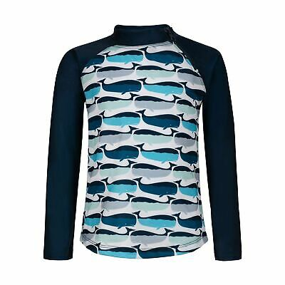 Navy Whale Pod Long Sleeve Zip Rashie