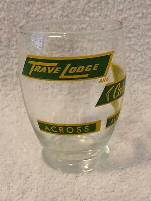 Vintage Rare Ceramic Lable Advertising Glass Trave Lodge Australia