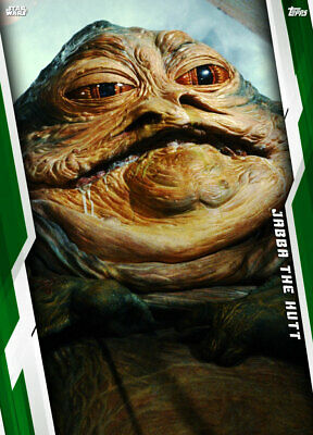 Topps Star Wars Card Trader Galaxy at War ROTJ GREEN Jabba The Hutt [DIGITAL]