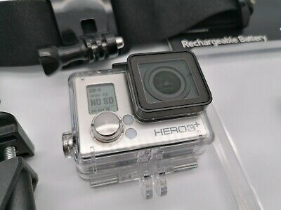 GOPRO HERO 3+ PLUS SILVER SD CARD CAMCORDER HD 1080P ACTION CAMERA and EXTRAS