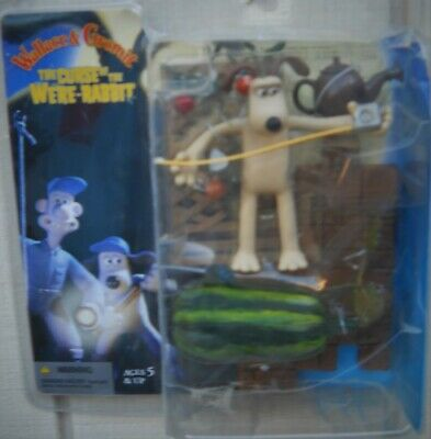 "New Curse Of Were Rabbit ""Gromit  "" 6"" With Watermelon And Tape Action Figure"