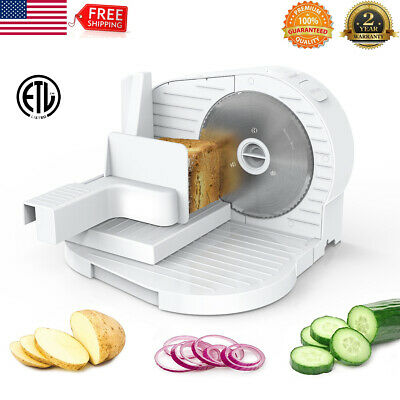"6.7"" Blade 150W Commercial Meat Slicer Electric Deli Food Veggie Cutter Kitchen"