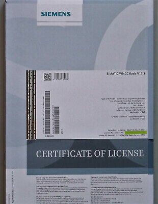 Siemens Simatic Software WinCC Basic V15.1 TIA PORTAL incl. Floating License