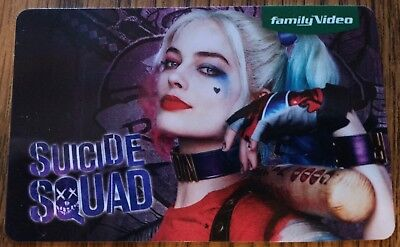 RARE Collectible Family Video Gift Card SUICIDE SQUAD Harley Quinn NO CASH VALUE
