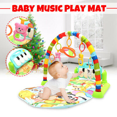 3 In 1 Large Baby Play Mat Kids Gym Playmat Fitness Music Fun Piano Boys Girls