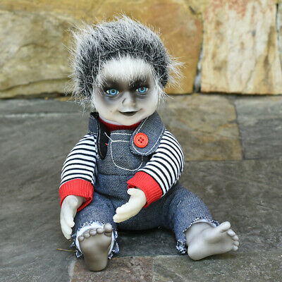 Electric Zombie Baby Haunted Creepy Gothic Doll Animated Halloween Scary Props